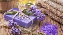 Verwöhnung mit Lavendel